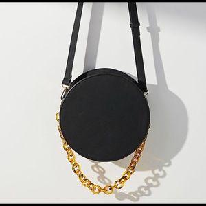 < Anthropologie > Black round bag